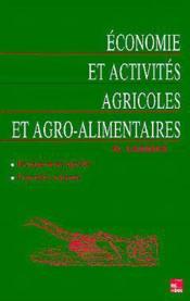 Economie et activites agricoles et agroalimentaires - Couverture - Format classique