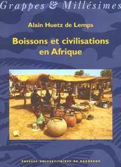 Boissons et civilisations en afrique - Intérieur - Format classique