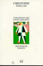 Chronique des jours glissants - Couverture - Format classique