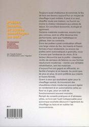 Poeles inserts et autres chauffages au bois - 4ème de couverture - Format classique