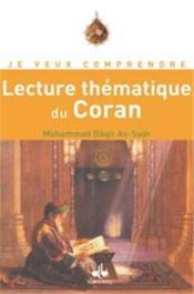 Lecture thématique du Coran - Couverture - Format classique