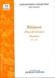 Bâtiment (Pays de Loire) ; brochure 3343, IDCC 2625 - Intérieur - Format classique