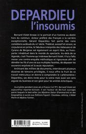 Depardieu L'Insoumis - 4ème de couverture - Format classique