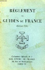 Reglement Des Guides De France - Couverture - Format classique