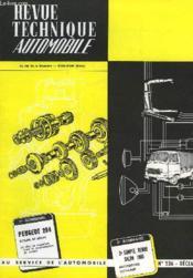 Revue Technique Automobile - N°236 - Couverture - Format classique