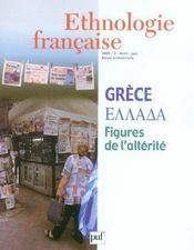 REVUE D'ETHNOLOGIE FRANCAISE N.2 ; Grèce, figures de l'alterité (édition 2005) (édition 2005) - Intérieur - Format classique