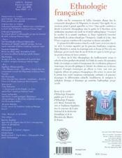 REVUE D'ETHNOLOGIE FRANCAISE N.2 ; Grèce, figures de l'alterité (édition 2005) (édition 2005) - 4ème de couverture - Format classique
