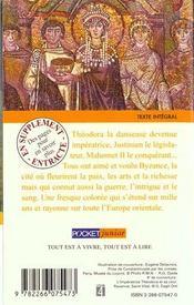 Recits tires de l'histoire de byzance - 4ème de couverture - Format classique