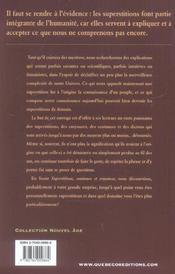 Superstitions, coutumes et croyances (2e édition) - 4ème de couverture - Format classique