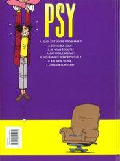 Les psy t.6 ; eh bien voila - 4ème de couverture - Format classique