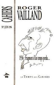 1936 : fragment d'un temps perdu... - Intérieur - Format classique