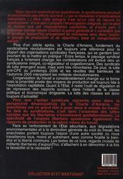 Plus d'un siècle après la charte d'amiens... quelle place des anarchistes dans le monde du travail ? - 4ème de couverture - Format classique