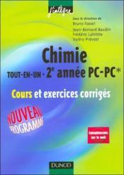 Chimie ; PC, PC* ; tout-en-un - Couverture - Format classique