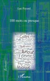 100 mots ou presque - Couverture - Format classique