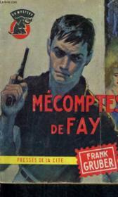 Mecomptes De Fay - Couverture - Format classique