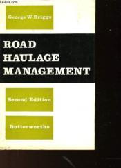 Road Haulage Management - Couverture - Format classique