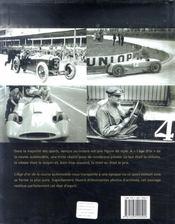 L'âge d'or de la course automobile - 4ème de couverture - Format classique