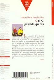 Sos Grands-Peres - 4ème de couverture - Format classique