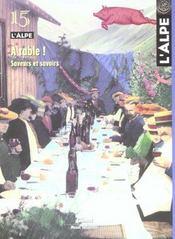L'ALPE N.15 ; à table - Intérieur - Format classique