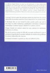 Sciences Industrielles Mecanique Et Automatique Pcsi Resumes De Cours Et Exercices Corriges - 4ème de couverture - Format classique