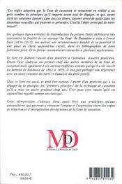 La Cour De Cassation, Traite De Ses Attributions De Sa Competence De La Procedure Observee En Matiere Civile - 4ème de couverture - Format classique