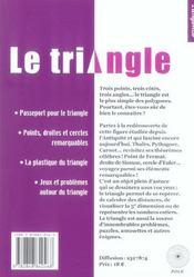 Le triangle - 4ème de couverture - Format classique