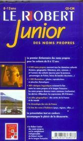Robert junior des noms propres - 4ème de couverture - Format classique