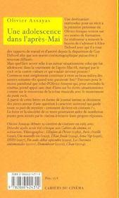 Une adolescence dans l'après-Mai ; lettre à Alice Debord - 4ème de couverture - Format classique