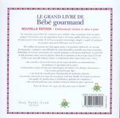 Le grand livre de bebe gourmand - 4ème de couverture - Format classique