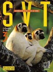 SVT ; 3ème ; livre de l'élève ; programme 2009 - Couverture - Format classique