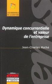 Dynamique concurrentielle et valeur de l'entreprise - Intérieur - Format classique