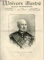 L'UNIVERS ILLUSTRE- TRENTE CINQUIEME ANNEE N° 1929 Le vice-amiral Jurien de la Gravière - Couverture - Format classique