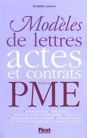Modeles De Lettres Actes Et Contrats Pour La Pme - Intérieur - Format classique