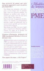 Modeles De Lettres Actes Et Contrats Pour La Pme - 4ème de couverture - Format classique