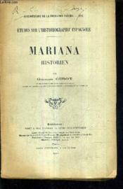 Etudes Sur L'Hisotiographie Espagnole - Mariana Historien. - Couverture - Format classique