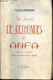 Mon Journal De Rethondes A Anfa - (Juin 1940 - Mai 1943). - Couverture - Format classique