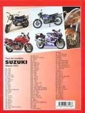 Tous les modèles Suzuki. depuis 1970 - 4ème de couverture - Format classique