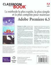 Premiere 6.5 Ciab Adobe - 4ème de couverture - Format classique