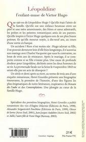Léopoldine Hugo, l'enfant-muse de Victor Hugo - 4ème de couverture - Format classique