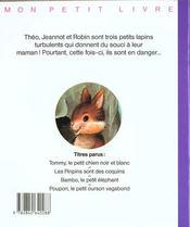 Mon petit livre: pinpins sont des coquins - 4ème de couverture - Format classique