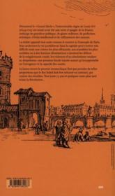 Crimes, fastes et misères dans le Paris du Roi-Soleil - 4ème de couverture - Format classique