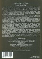 Essais philosophiques - 4ème de couverture - Format classique