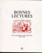 Bonnes lectures - Couverture - Format classique