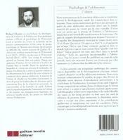 Psychologie de l'adolescence - 4ème de couverture - Format classique