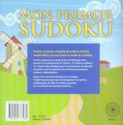 Mon 1er sudoku - 4ème de couverture - Format classique