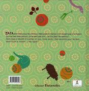 Zaza et les zanimos - 4ème de couverture - Format classique