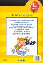 Je Lis Et Je Colle - 4ème de couverture - Format classique