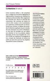 L'urbanisme (3e édition) - 4ème de couverture - Format classique