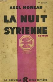 La Nuit Syrienne - Couverture - Format classique