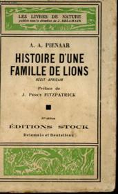 Histoire D'Une Famille De Lionne - Couverture - Format classique